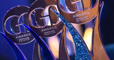 GO Awards Scotland 2019 trophies